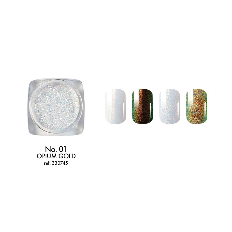 Dekoracinės dulkės 01 OPIUM GOLD