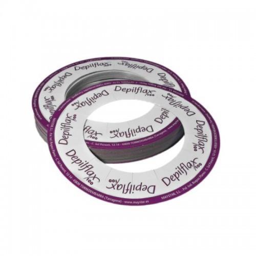 Popierinis žiedas depiliacijos vaškui skardinėse 10 vnt