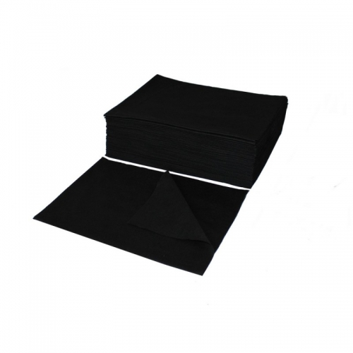 Vienkartiniai rankšluosčiai juodi 50vnt. 70*40cm