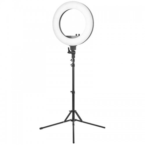 "LEMPA ""RING LIGHT"" 18"" 48W LED STACIONARI, JUODA"